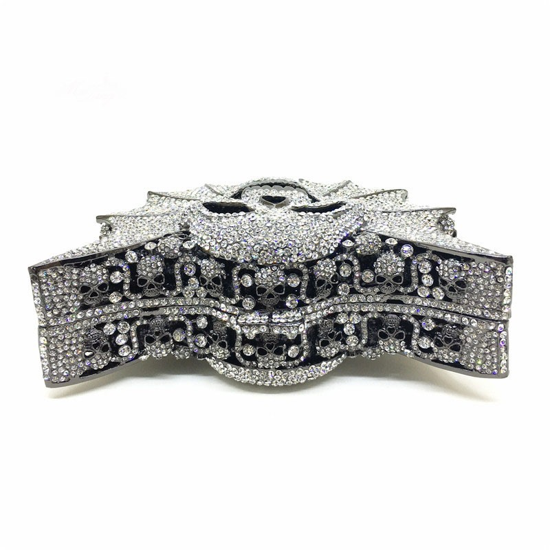 Ericdress Custom-made Skull Rhinestone Design Clutch