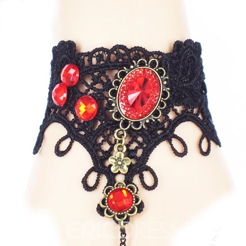 Ericdress Punk Style VIntage Lace Halloween Accessories Bracelet