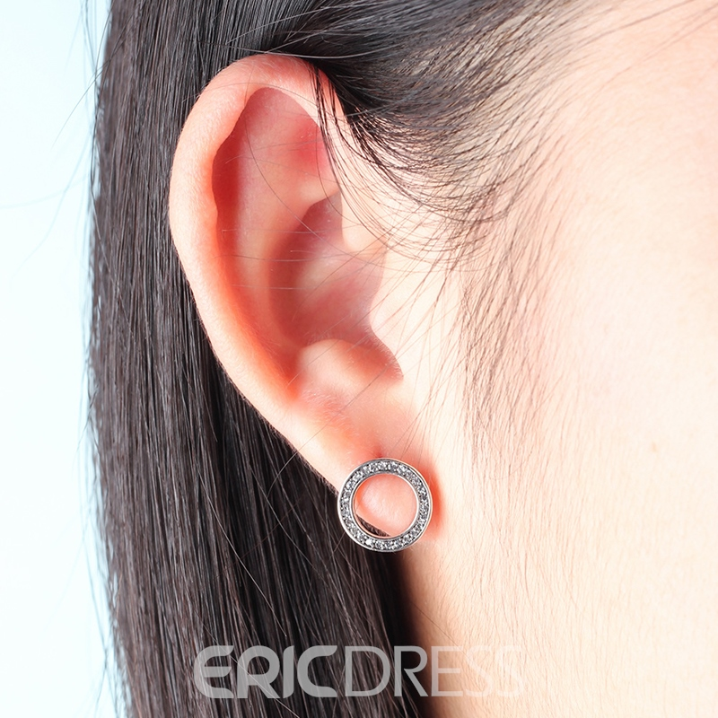 MarkChic Vintage Circle S925 Silver Women's Earring