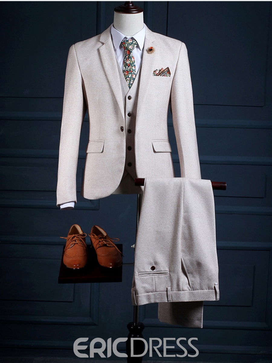 Ericdress One Button Vogue Three-Piece of Men's Suit