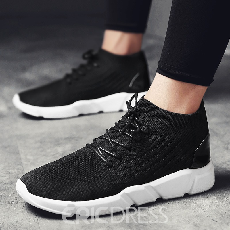Ericdress Breathable Mid-Cut Plain Men's Athletic Shoes