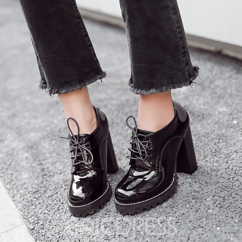 Ericdress Plain Platform Low-Cut High Heel Boots