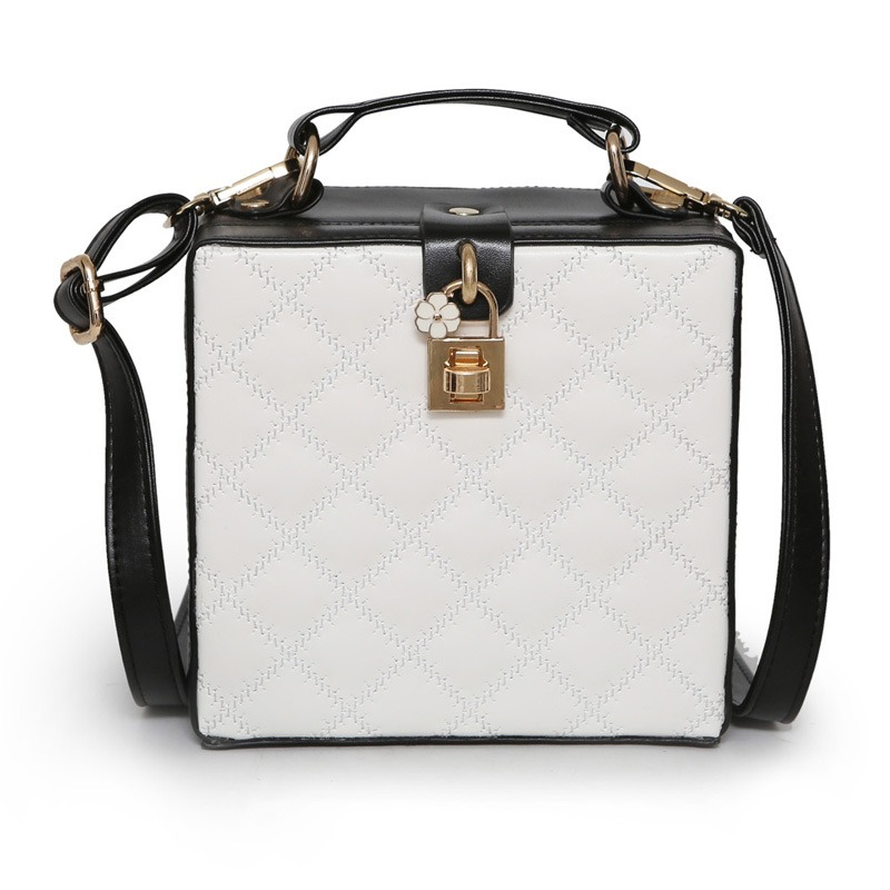 Ericdress Box Shape Plaid Pattern Handbag