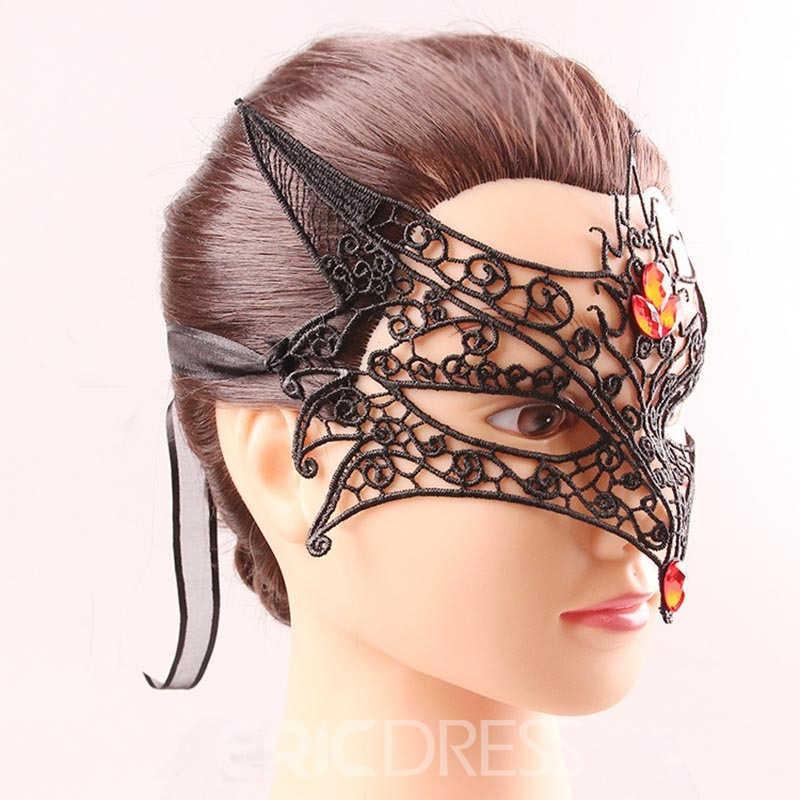 Ericdress Lace Fox Hollow Out Halloween Sex Mask