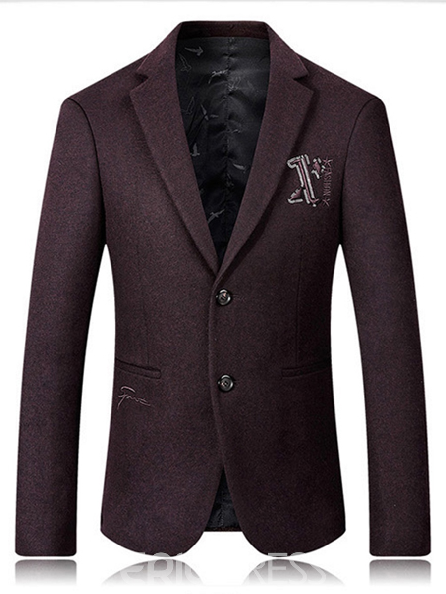 Ericdress Lapel Embroidery Vogue Men's Blazer