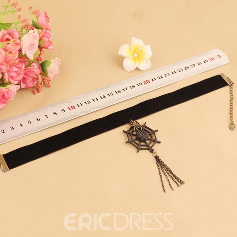 Ericdress Gothic Style Spider Web Tassel Halloween Accessories Choker