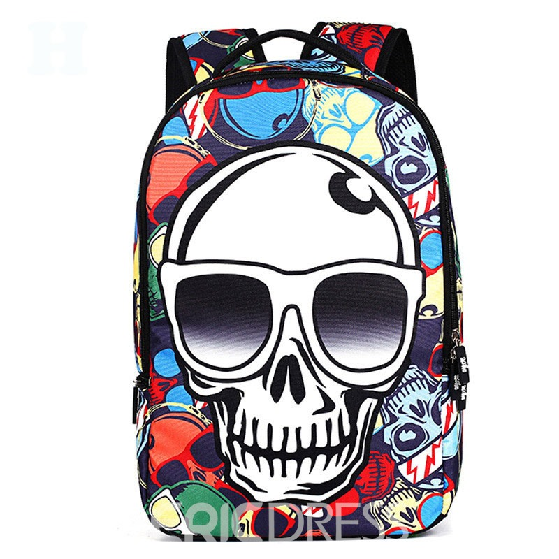 Ericdress Occident Style Skull Printing Backpack