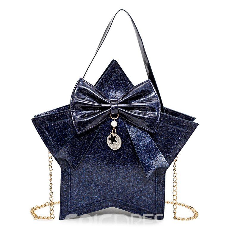 Ericdress Shining Sequins Star Shape Bowknot Handbag