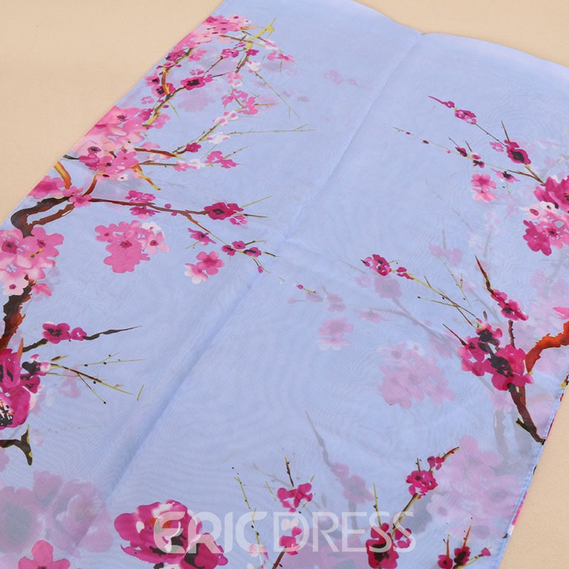 Ericdress Chinese Style Plum Blossom Printed Women's Scarf
