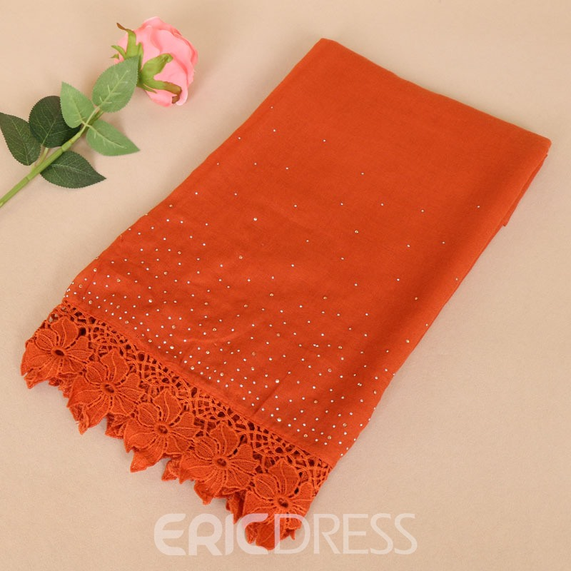 Ericdress Vintage Solid Color Cotton and Linen Scarf for Women