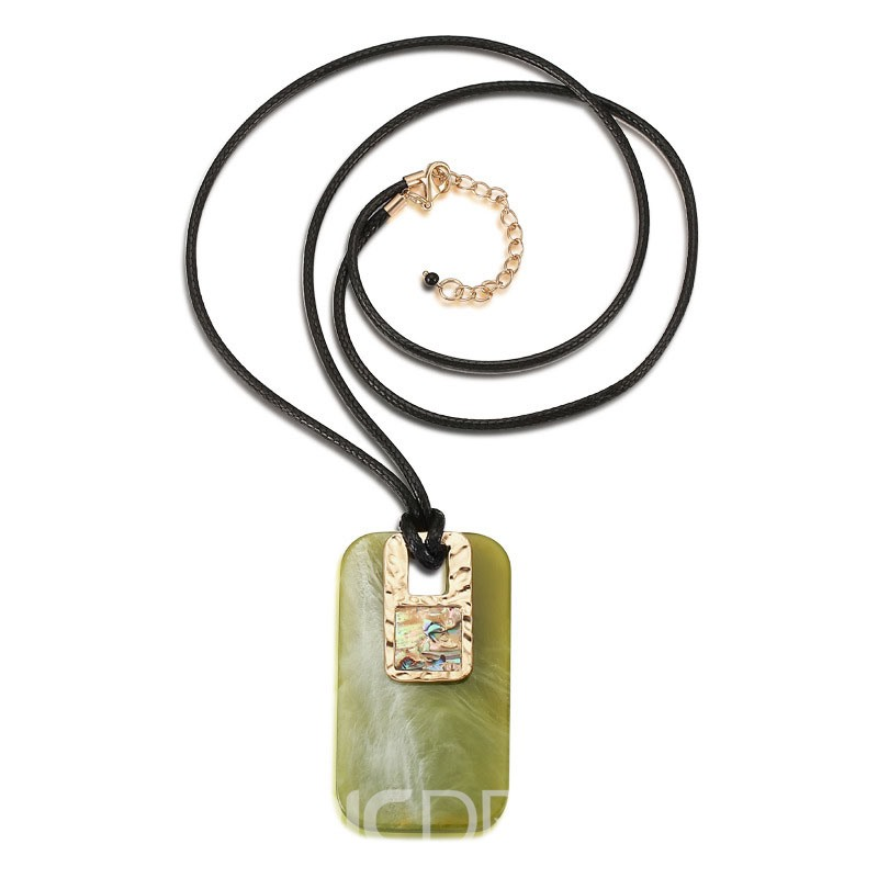 Ericdress Popular Acrylic Stone Pendant Necklace for Women