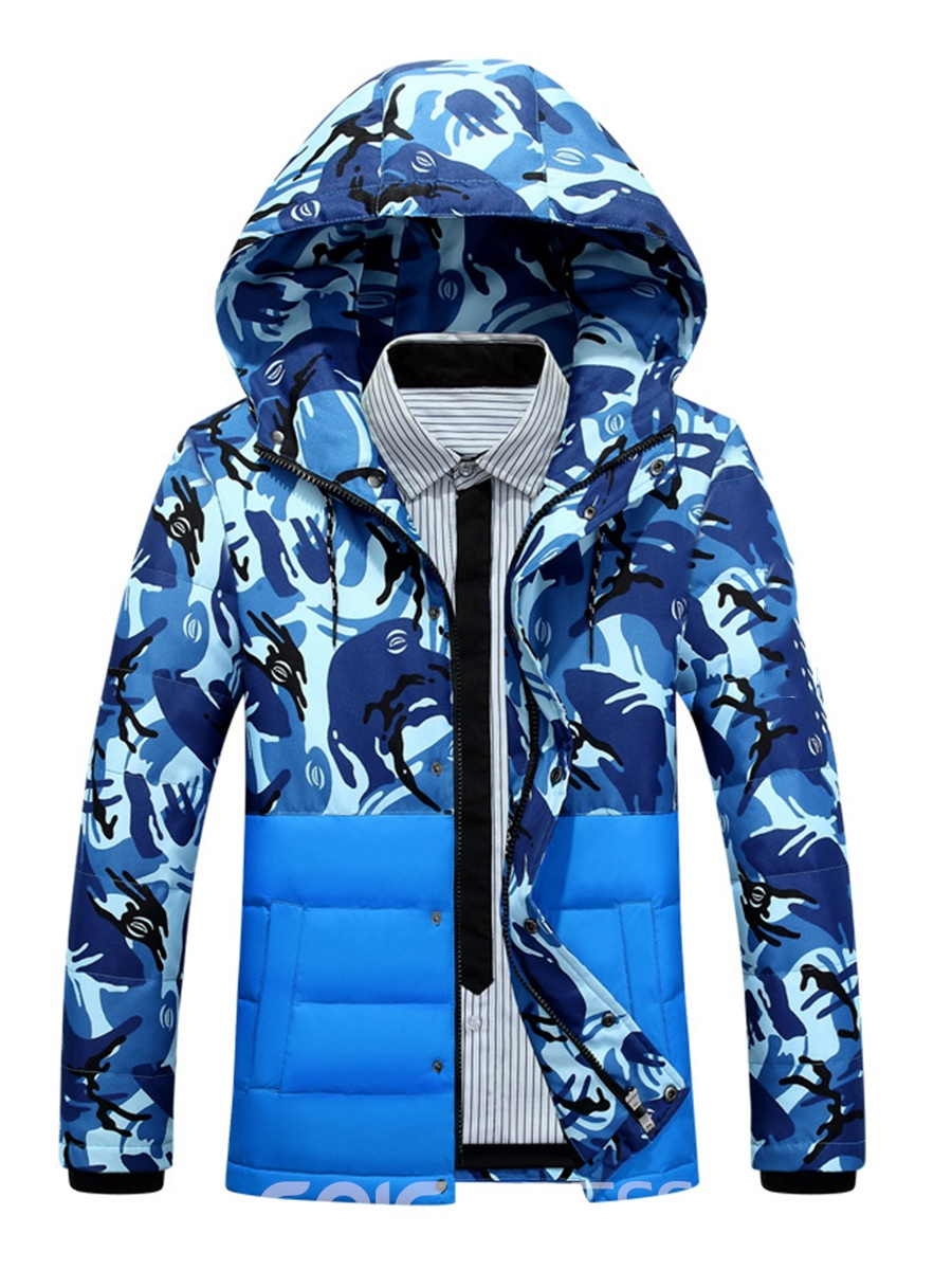 Ericdress Camouflage Print Men's Winter Coat
