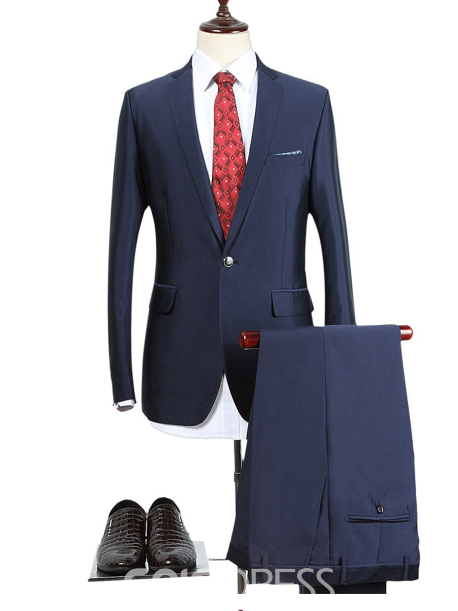 Ericdress Plain Simple Lapel Slim Men's Suit
