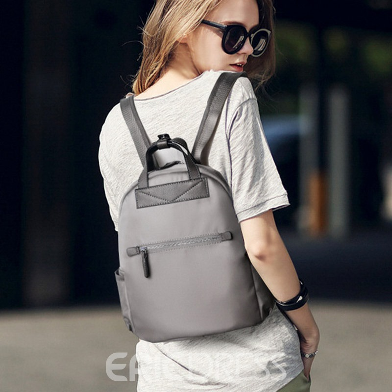 Ericdress Preppy Chic Waterproof Oxford Backpack