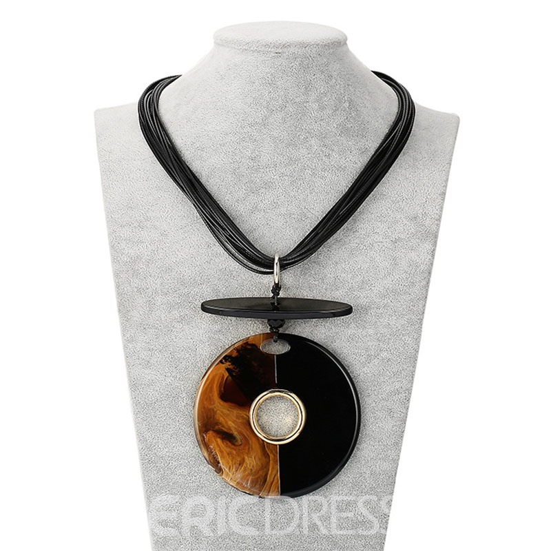 Ericdress Best Seller European Style Acrylic Patchwork Pendant Necklace