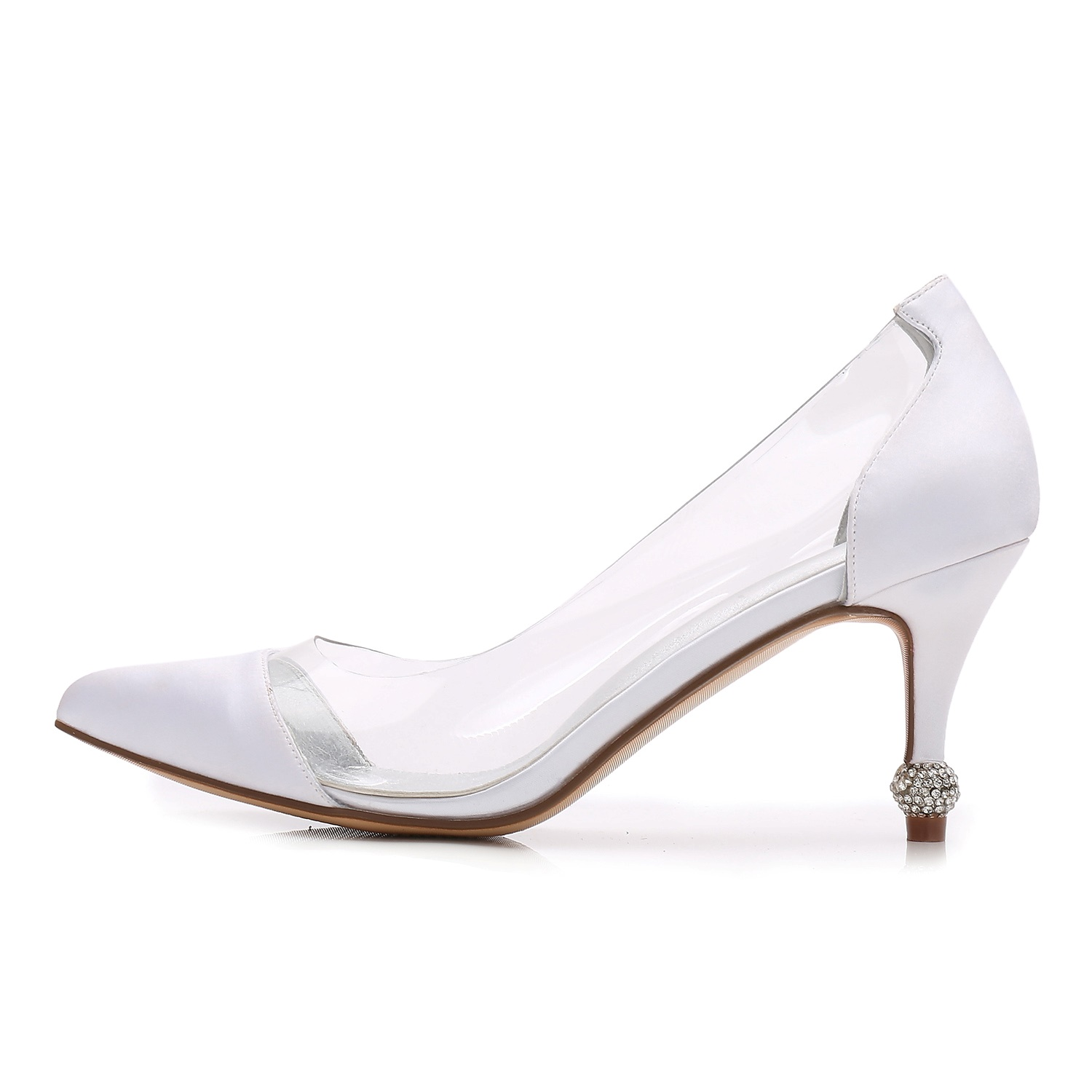 Ericdress Clear Rhinestone Patchwork Plain Stiletto Heel Wedding Shoes