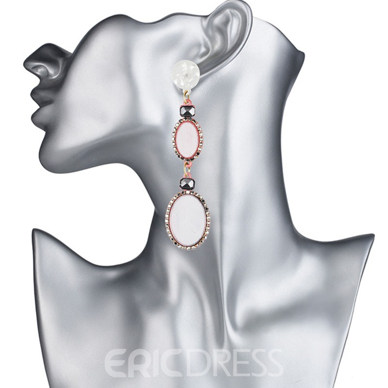 Ericdress All Match Acrylic Diamante Drop Earring