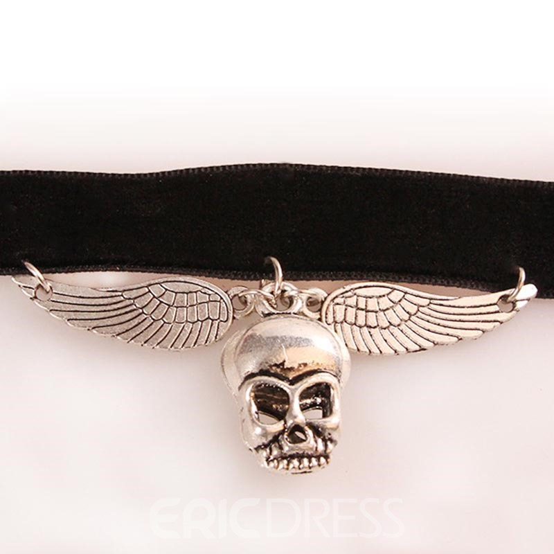 Ericdress Best Seller Skull Angle's Wing Halloween Accessories Choker Necklace