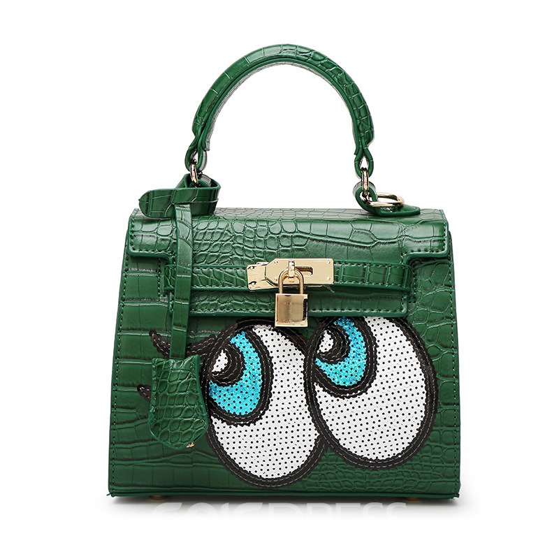 Ericdress Croco-Embossed Cartoon Pattern Women Handbag