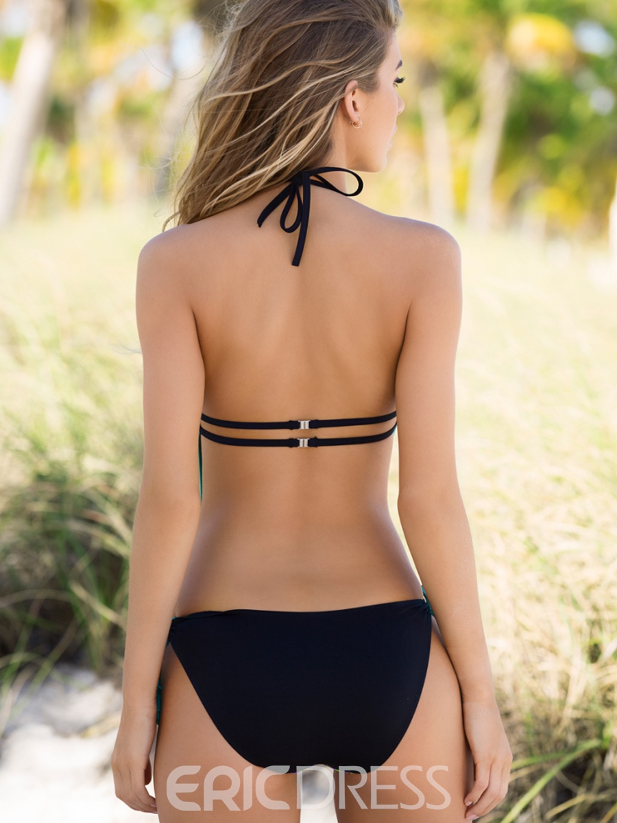 Ericdress Fashionable Image Print Backless Monokini
