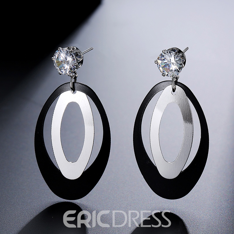 Ericdress Diamante Drop Earring for Women