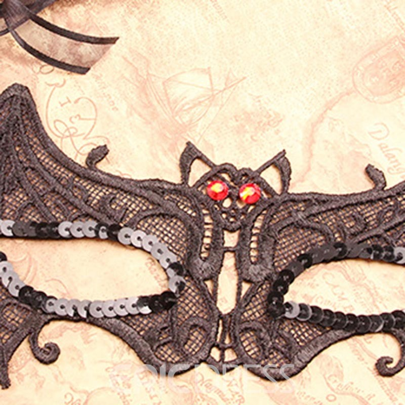 Ericdress Halloween Party Lace Paillette Hollow Mask