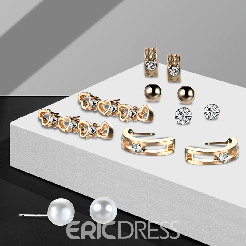 Ericdress High Quality Diamante Many Pieces Jewelry Set