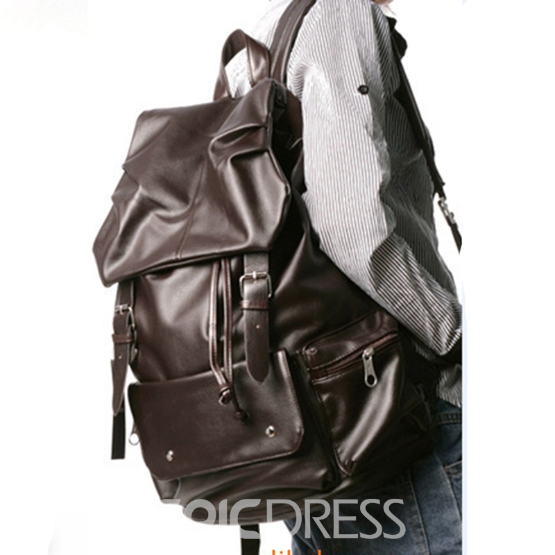 Ericdress Casual Soft PU Unisex Backpack