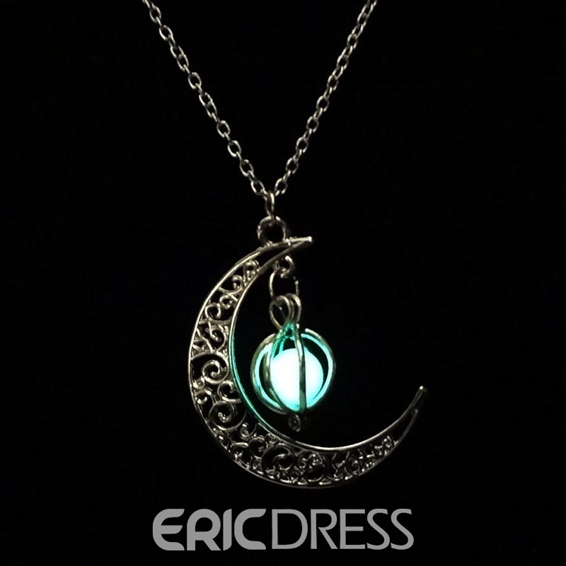 Ericdress Moon&Pumpkin Halloween Accessories Pendant Necklace