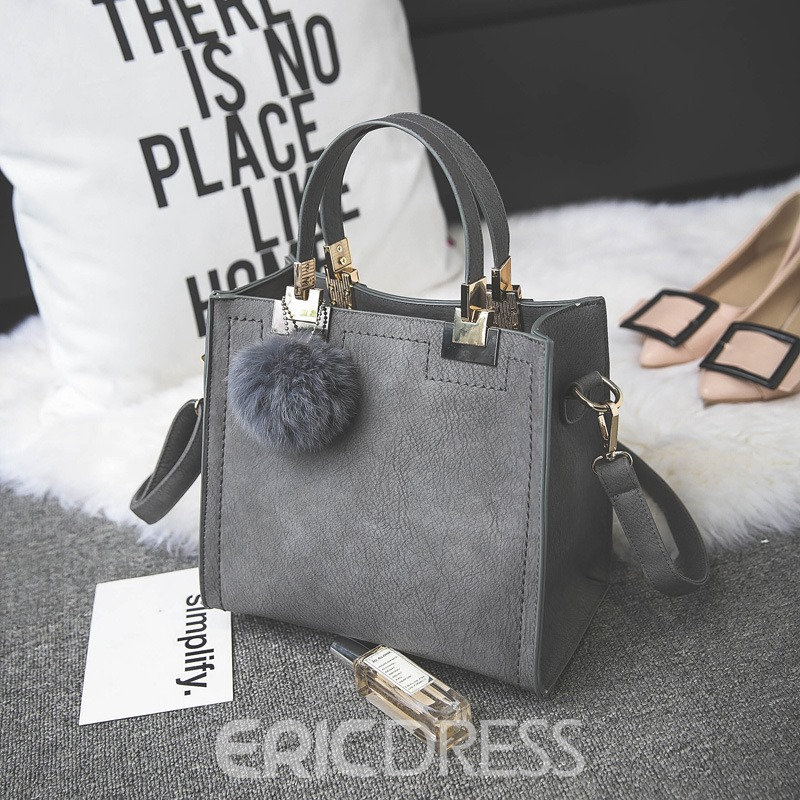 Ericdress Vintage Matting Ball Pendant Women Handbag