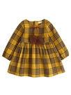 Ericdress Plaid Patchwork With Bowknot Girl's Dress