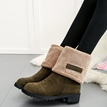 ericdress Fuzzy-Slip-On-Damenstiefel