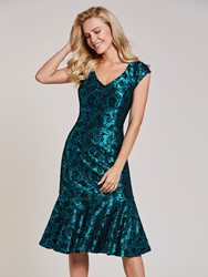 Ericdress V Neck Beaded Mermaid Bodycon Homecoming Dress