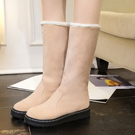 Ericdress Plain Platform Slip-On Snow Boots