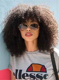 Ericdress Natural Curly Kinky African American Synthetic Hair Capless Wigs 14 Inches