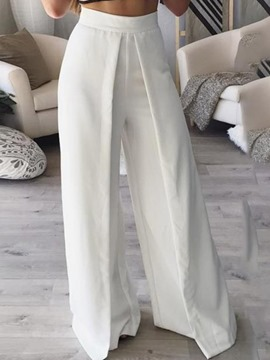 Ericdress White Wide Leg Women's Pants