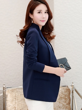 Ericdress Slim Plain Notched Lapel Blazer