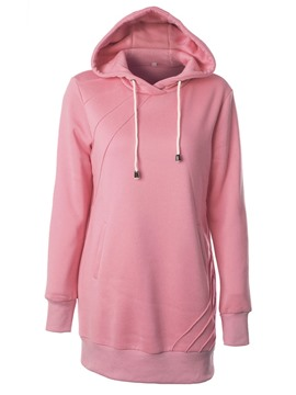 Ericdress Plain Mid-Length Pullover Cool Hoodie