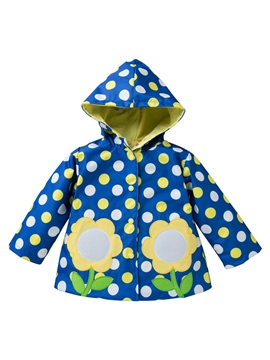 ericdress polka dots mid-length lovely outwears de fille