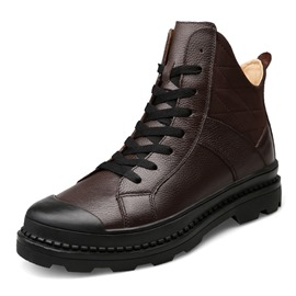 Ericdress Plain British Ankle Men's Martin Boots