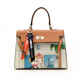 Ericdress Cartoon Graffiti Prints PU Handbag