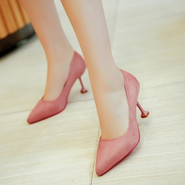 Ericdress Simple Slip-On Low-Cut Stiletto Heel Pumps