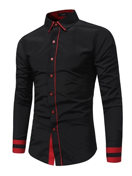 Ericdress Plain Long Sleeve Casual Men's Shirt