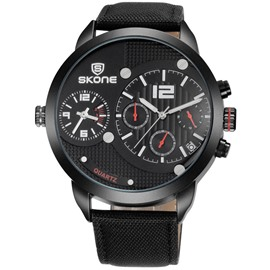 Ericdress Two-Movement Multifunctional Calendar Display Watch for Men