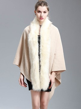 Ericdress Fur Mid-Length Plain Cape
