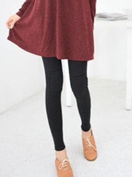 Ericdress Plain Autumn Cotton Leggings Pants