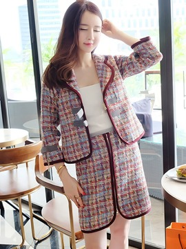 Ericdress Plaid Single-Breasted Leisure Suits