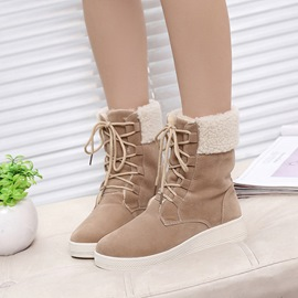 Ericdress Fashion Round Toe Platform Ankle Boots