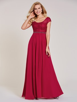 Ericdress V Neck Lace A Line Long Evening Dress