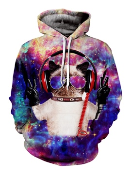 Ericdress Realistic 3D Digital Pullover Men's Hoodie
